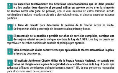 Infografía: ¿Por qué es necesaria una reforma a la Ley Orgánica de Seguridad Social de la Fuerza Armada Nacional Bolivariana?