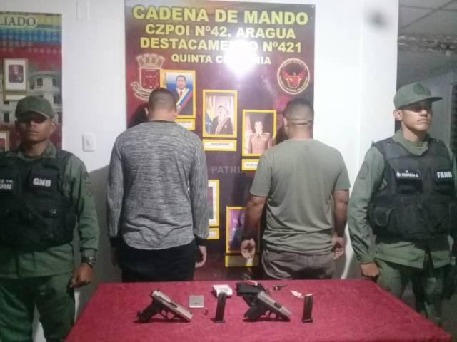 GNB aprehendió en Aragua a 14 sujetos incursos en diversos delitos