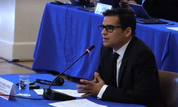 Diputado Armando Armas denunció en la OEA ataques contra parlamentarios, en los que ha habido complicidad de la GNB