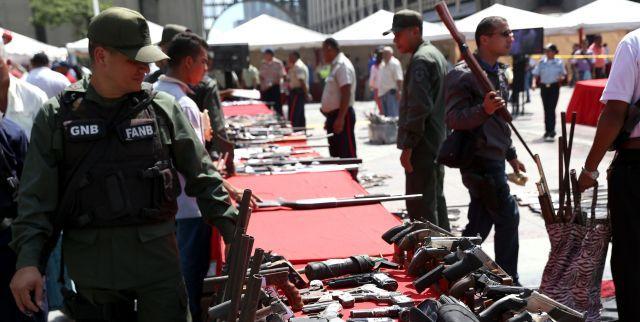 Inutilizan en Portuguesa 285 armas de fuego