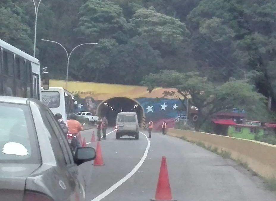 Largas colas hacia Caracas generaron alcabalas de la Guardia Nacional