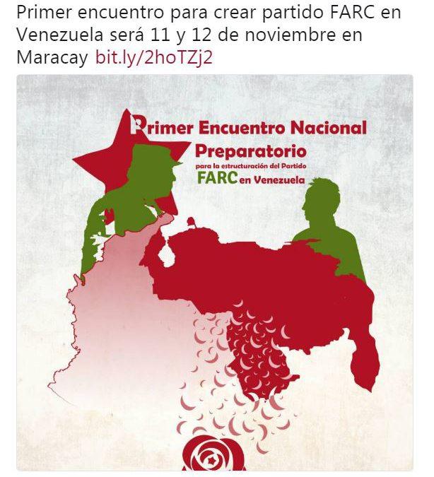 Partido colombiano FARC crea estructura organizativa en Venezuela