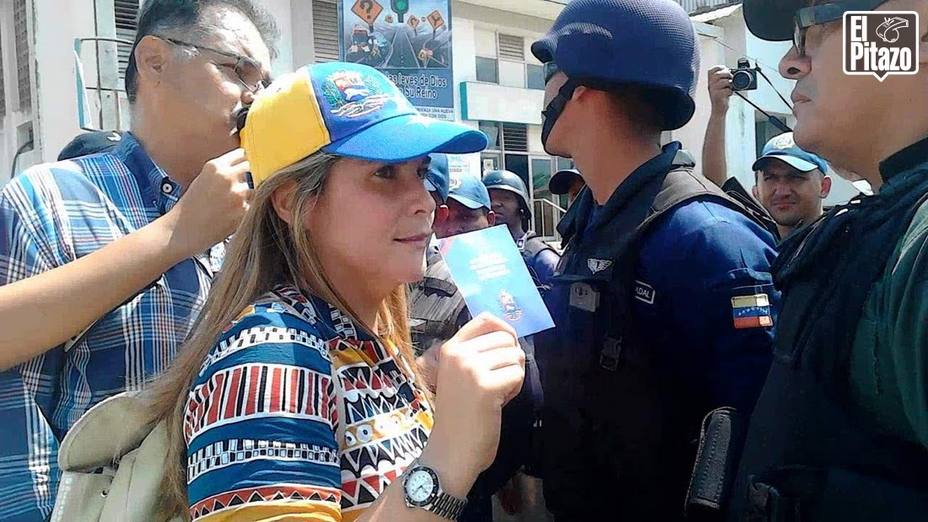 Diputada María Matínez denunció que fue agredida por un GNB durante protesta