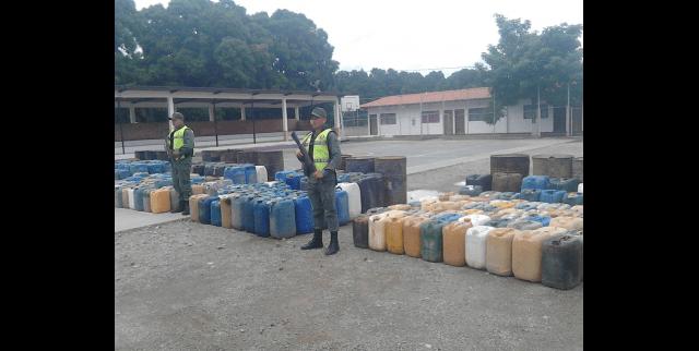 FANB incautó 46.721 litros de gasolina en frontera de Táchira en los últimos dos meses
