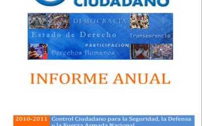 Informe anual 2010 de Control Ciudadano
