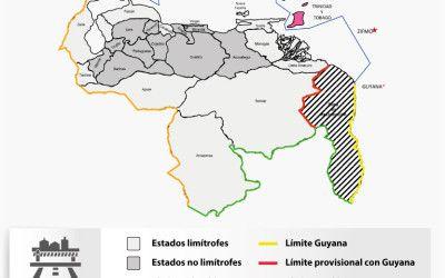 Infografía: Límites internacionales de la República y Estados Fronterizos de Venezuela
