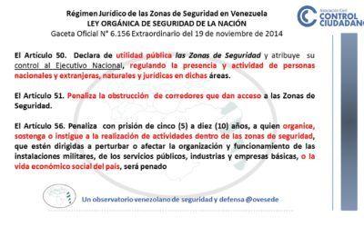 Régimen Jurídico de las Zonas de Seguridad en Venezuela