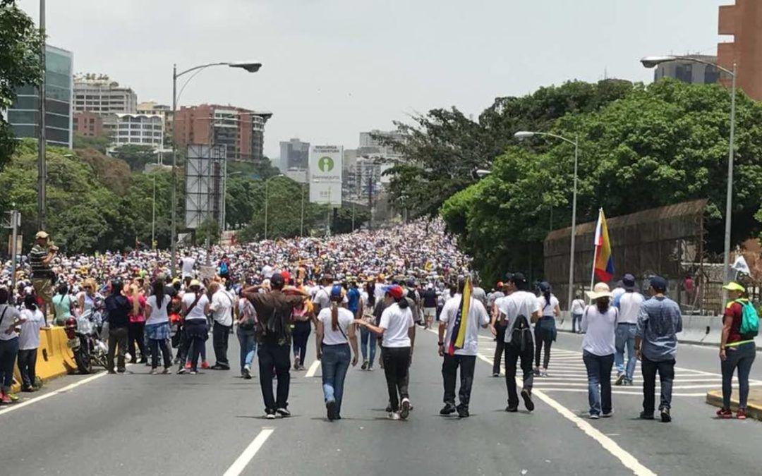 MUD convocó a marcha hasta el Paseo Los Próceres