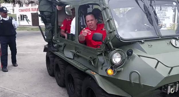 FANB presta los vehículos para la campaña de Marco Torres en Aragua