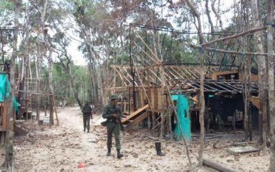 FANB desmantela campamento ilegal de minería las riberas del río Orinoco
