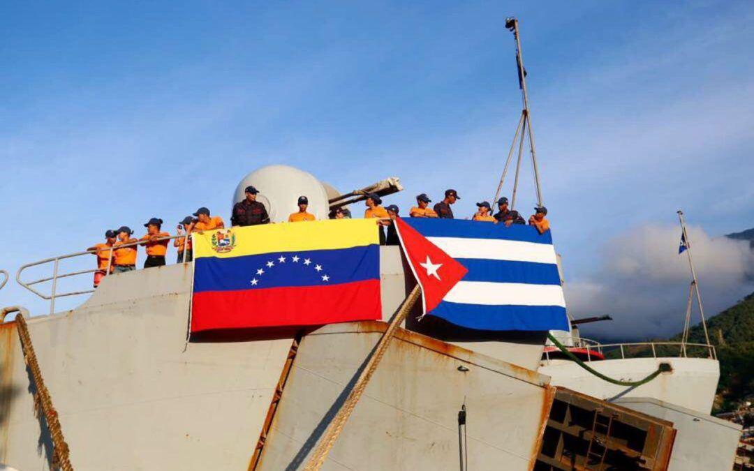 Zarpó embarcación de la Armada venezolana con 600 toneladas de material de construcción y eléctrico hacia Cuba